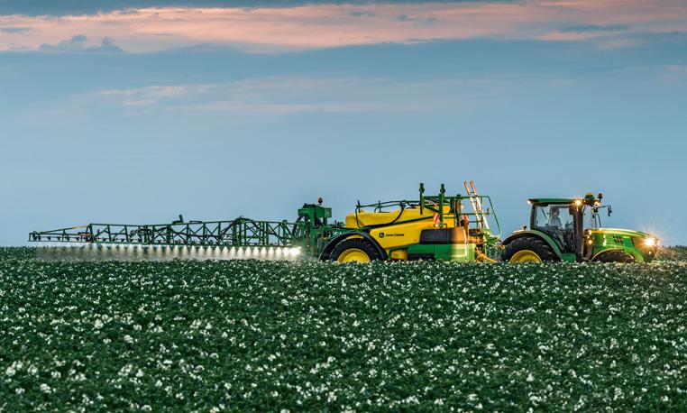 Spraying Cotton