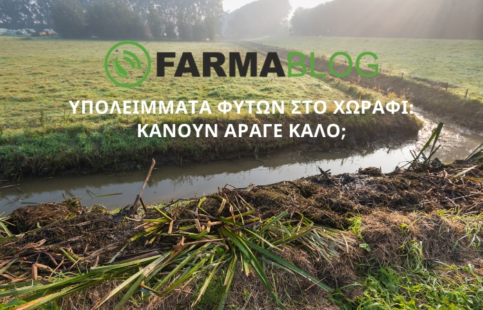 Υπολείμματα φυτών στο χωράφι: κάνουν άραγε καλό;